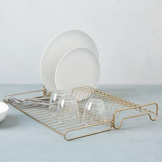 foldable dish rack kitchen storage