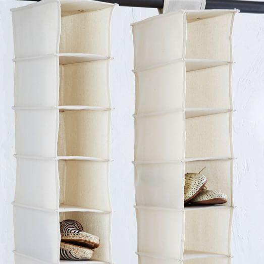 canvas hanging shoe organizer
