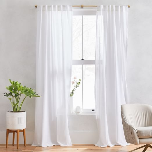 sheer crosshatch curtains set of 2 white