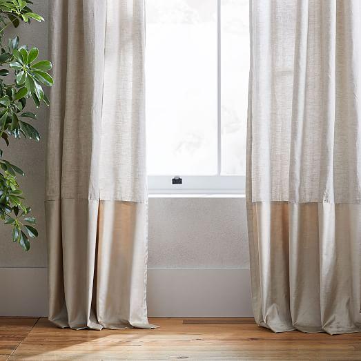 european flax linen luster velvet curtain natural sand