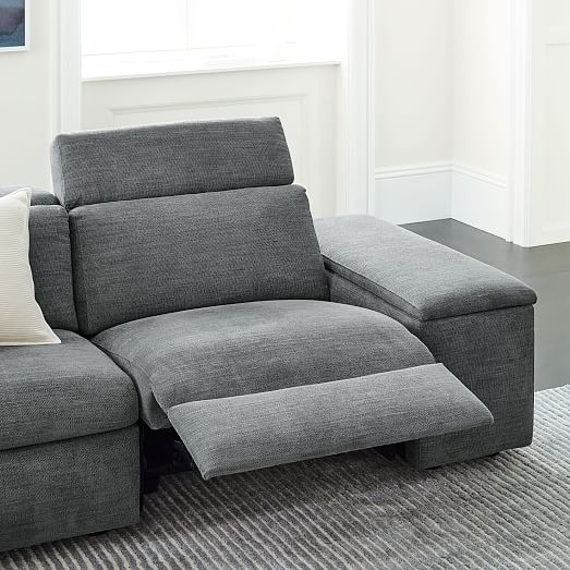 enzo 3 piece reclining chaise sectional w storage