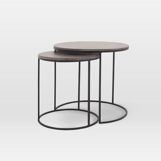 lavastone round nesting side tables set of 2