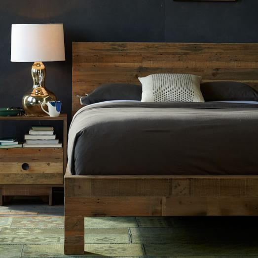 emmerson reclaimed wood bed natural