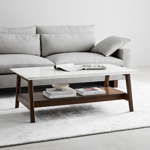 easel frame quartz coffee table