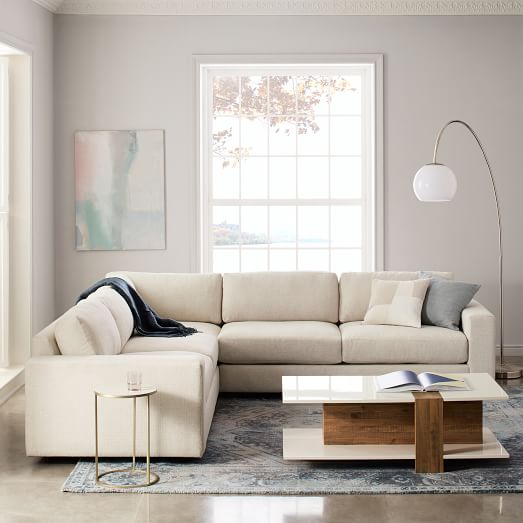 urban 3 piece l shaped sectional