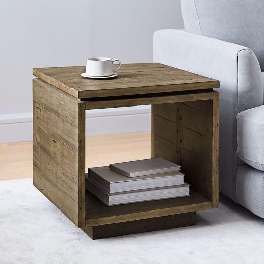 emmerson modern side table reclaimed