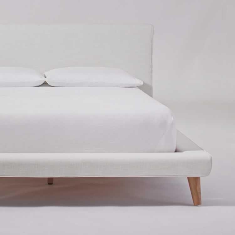 mod upholstered platform bed