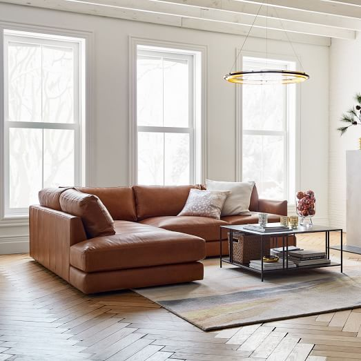 modular haven leather sectional