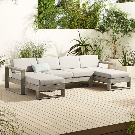 portside 3 piece u shaped sectional outdoor furniture covers
