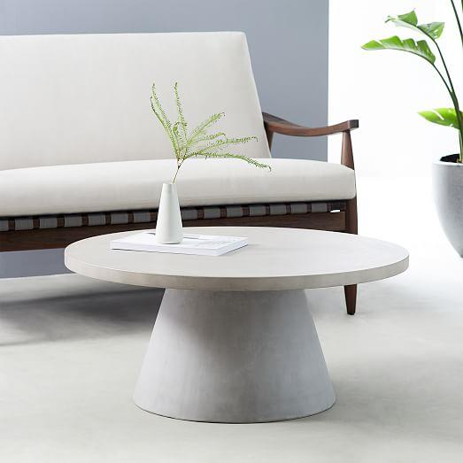 pedestal outdoor coffee table