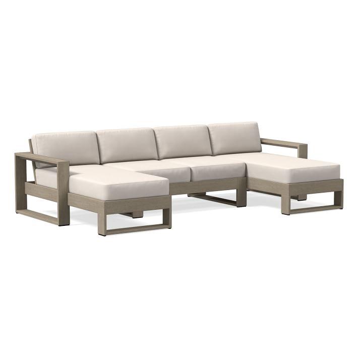 portside 3 piece u shaped sectional outdoor cushion covers sunbrella fabrics
