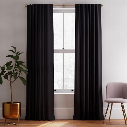 european flax linen curtain black