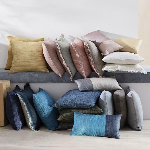 sari silk two toned pillow cover