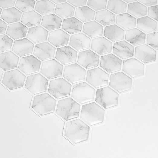 mosaic marble peel stick backsplash