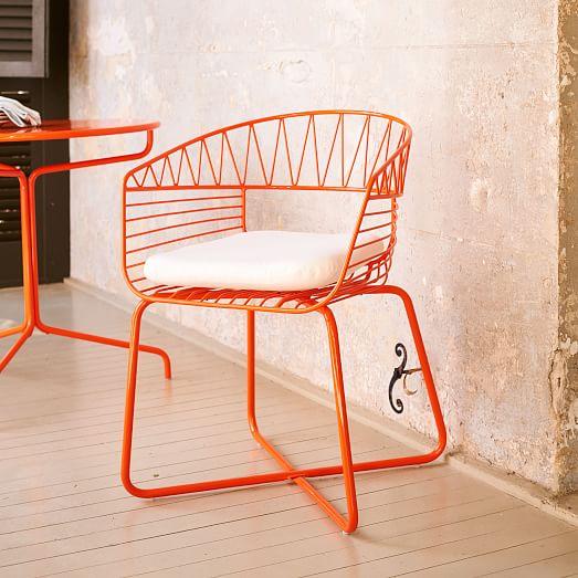soleil metal outdoor bistro chair