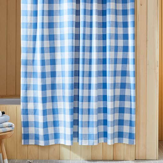 heather taylor home gingham shower curtain