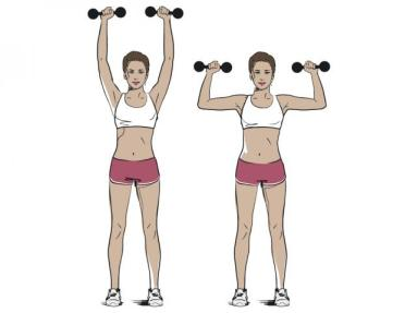 Image result for Standing Dumbbells Overhead Shoulder Press