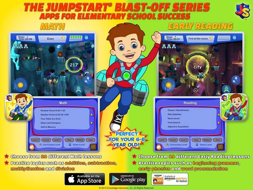 High Tech Kids Jumpstart Blast Off Math App Review