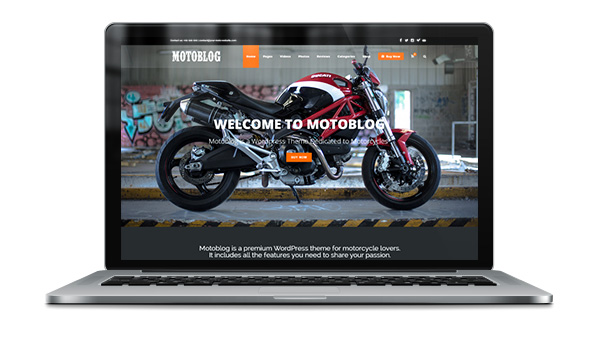 Motoblog - A WordPress Theme for Motorcycle Lovers - 1