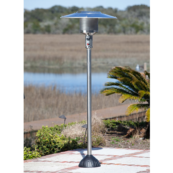 fire sense stainless steel natural gas patio heater woodland direct