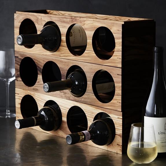 walnut stacking wine rack wine