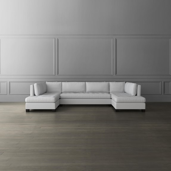 wilshire 3 piece u shape sofa sectional with chaise