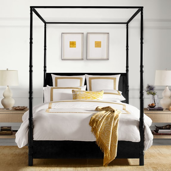 four poster cane bed