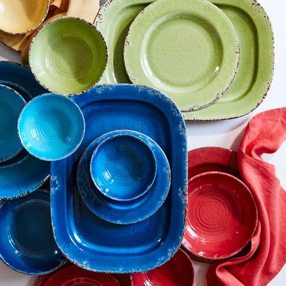 rustic outdoor melamine dinner plates