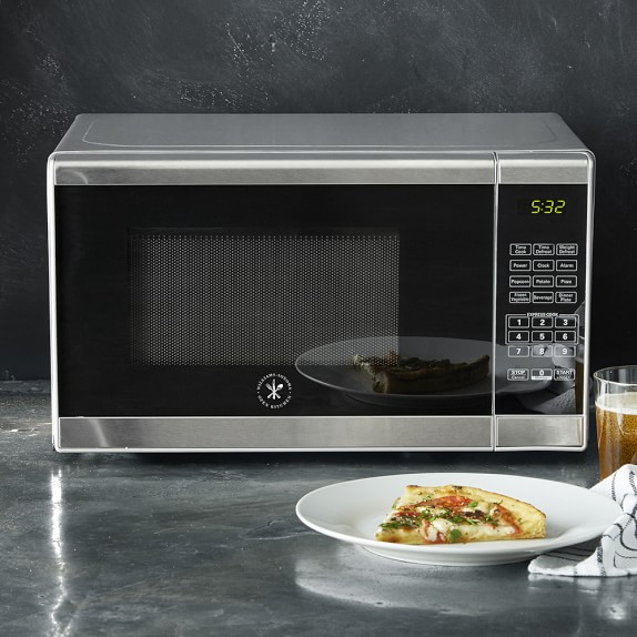 open kitchen by williams sonoma stainless steel microwave