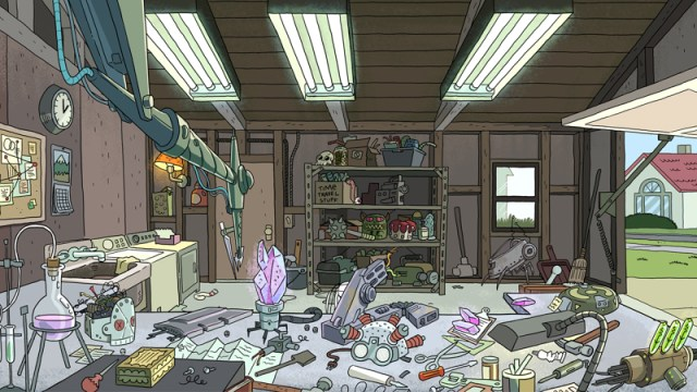 Rick and Morty - Garage - Virtual background - 800 px