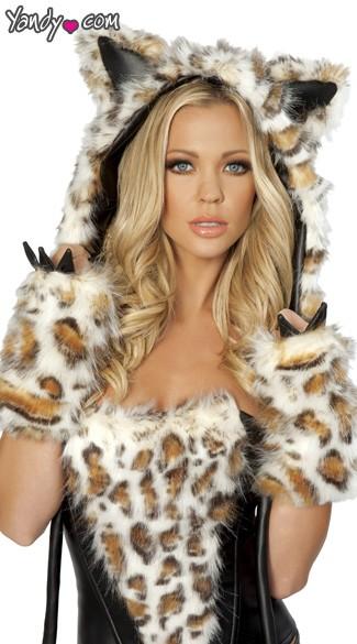 Frisky Hood Frisky Leopard Costume Hood Seductive