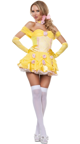 Sassy Yellow Princess Costume Sexy Princess Costume