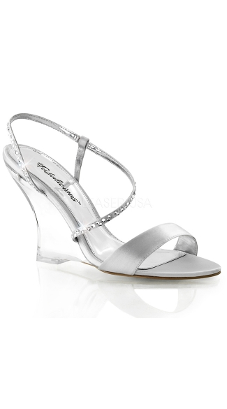 High Wedge Clear Color Size 5 Sandals Heel