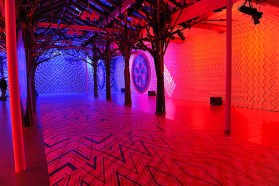 Zigzagging installation by Carnovsky for Missoni during Salone del Mobile 2013   Photo by Nick Hughes for Yellowtrace.