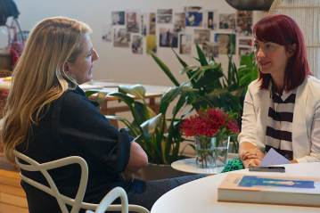 Patricia Urquiola with Dana Tomic Hughes, at Space Furniture Sydney | Yellowtrace
