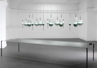 Flow(t) Glass Chandelier by Nao Tamura for Wonderglass | Yellowtrace