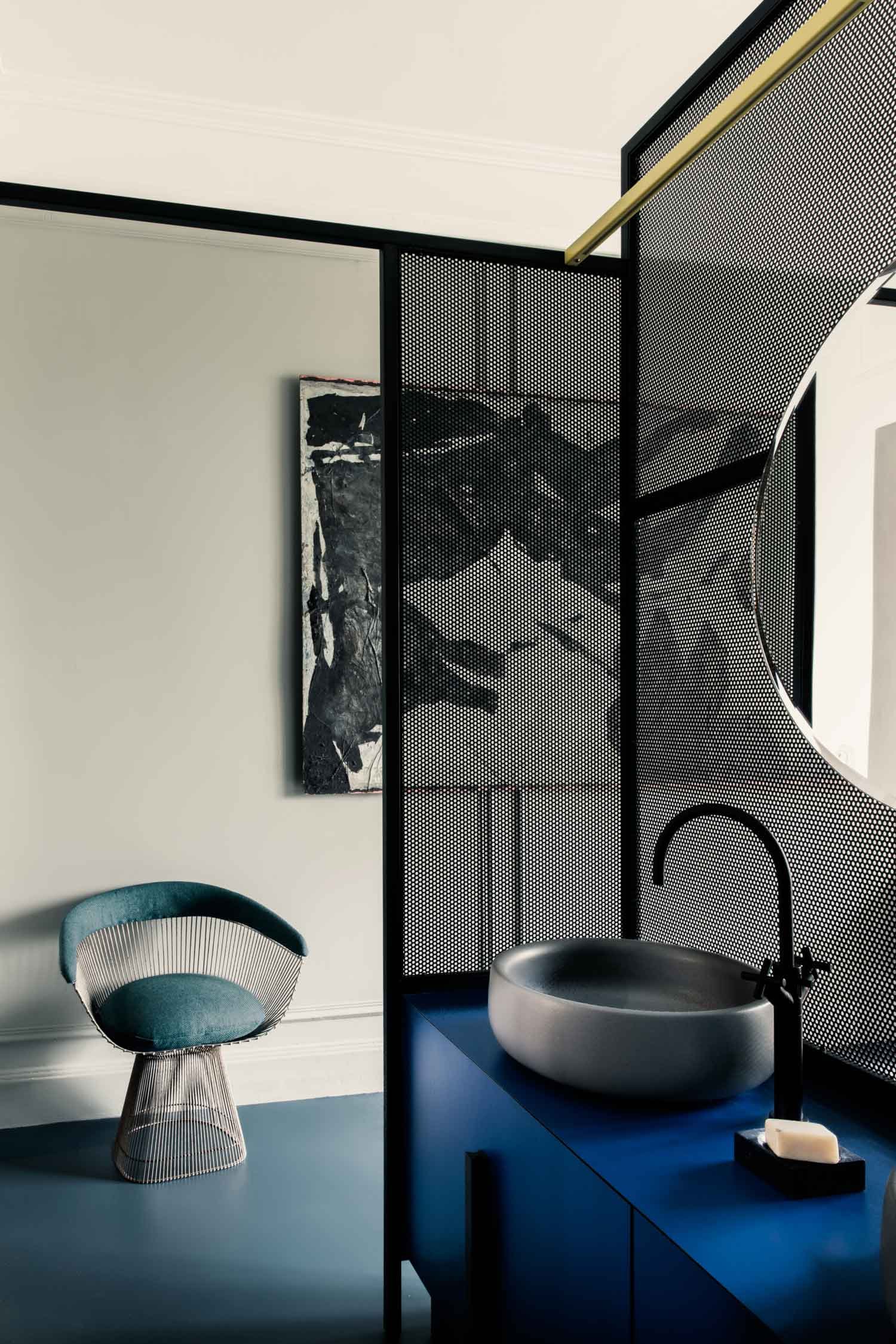 French Metal Rack Paris Apartment By Marcante Testa Uda