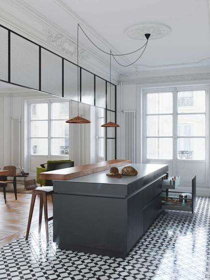 Refurbished Bourgeoisie Apartment in Belarus by Studio Nordes | Yellowtrace