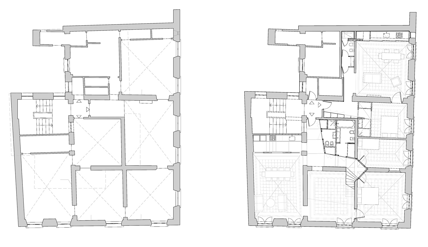 Heritage apartment renovation in chiavari by nicola for Apartment renovation plans