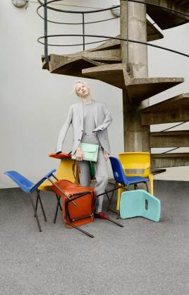 Ally Capellino 2017 Bag Collection Inspired by Colourful Plastic Chairs | Yellowtrace