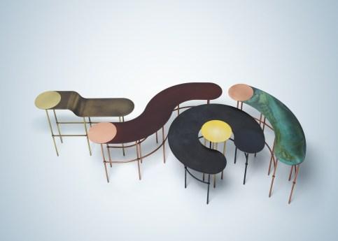 Scribble Tables by Lanzavecchia Wai by De Castelli at Salone del Mobile 2017   Yellowtrace