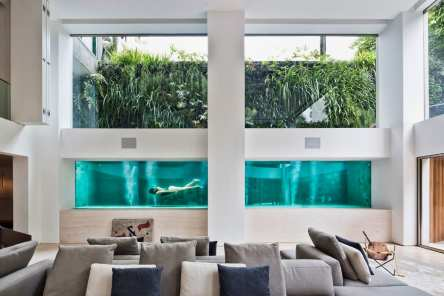 Residential Swimming Pool Acts as an Art Installation in São Paulo Home by Fernanda Marques Architects   Yellowtrace