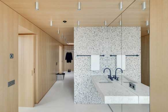 Terrazzo Marble Dreams: Apartment in Lithuania by DO Architects | Yellowtrace