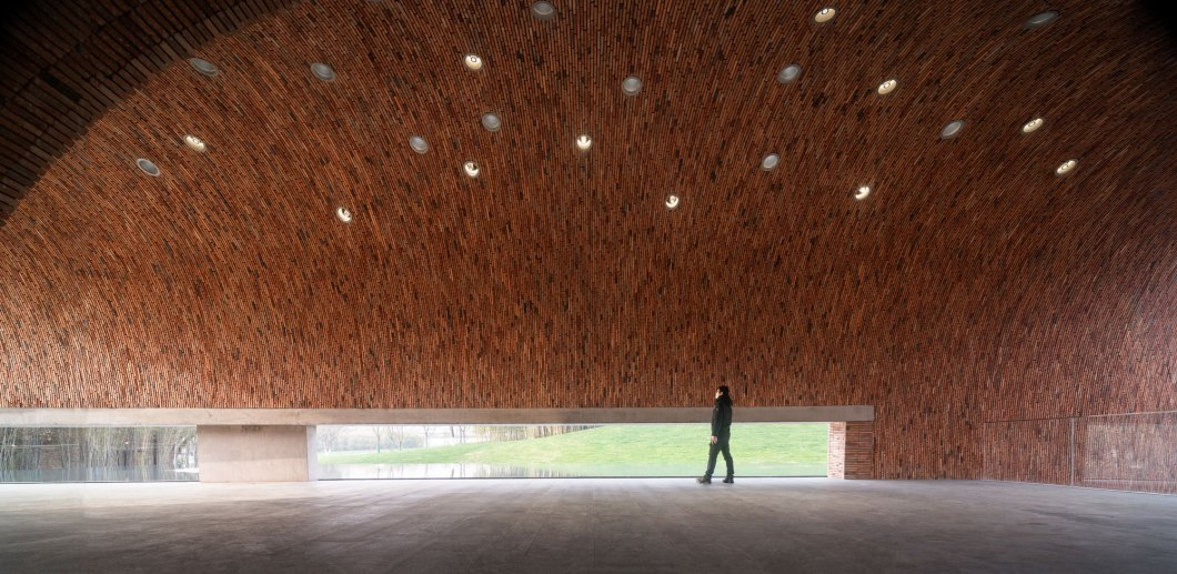 Studio Zhu Pei, Jingdezhen Imperial Kiln Museum, Jingdezhen Shi China, Brick Architecture | Yellowtrace