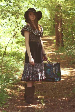 Moonshine Hill Dresses Brown Frye Boots Black