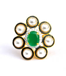 Buy Pearl Emerald Cocktail Ring Ring online