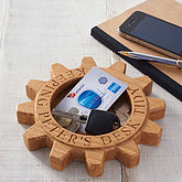 Personalised Oak Cog Desk Tidy - 30 best gifts for men