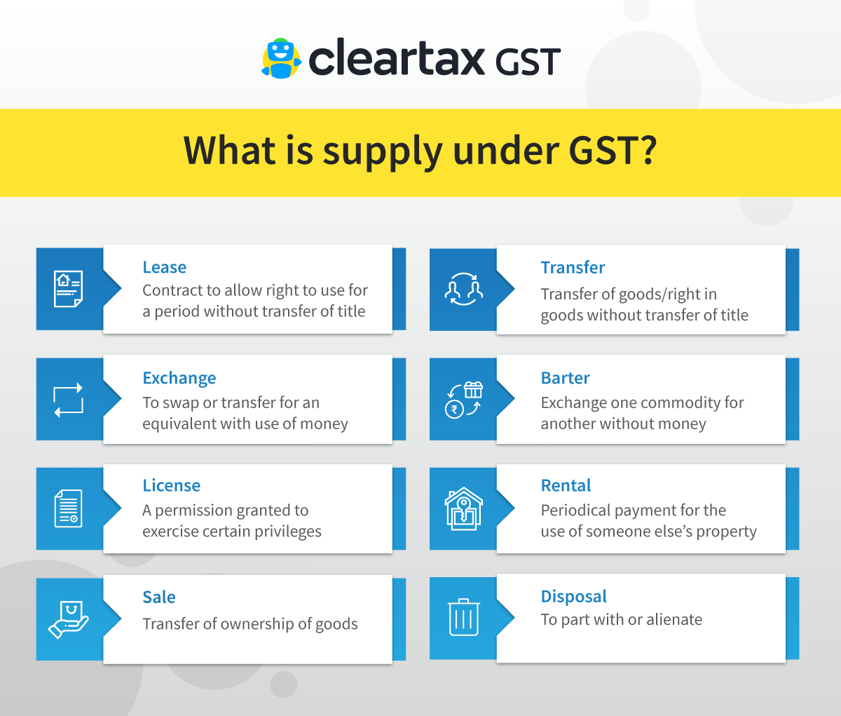 Supply Under Gst Definition Meaning Amp Scope Of Taxable