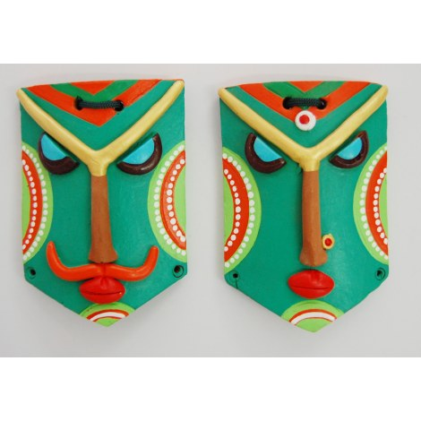Wall Hanging Terracotta Mask Online Shopping