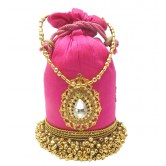 bhamini-raw-silk-ghungroo-batwa-with-tilak-brooch-pink